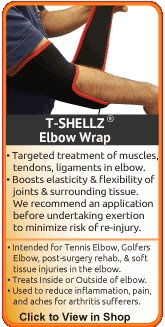 TShellz Wrap Elbow for tennis elbow, epicondylitis, elbow strains and elbow sprain
