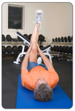 After your knee is warmed up your physical therapist will guide you through stretches to improve mobility.