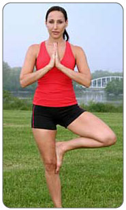 Help strength your body with exercise - yoga.